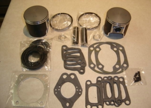 Rotax 447 oversize  piston and gasket kit for ultralight aircraft engine top end kit OS2