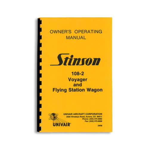 1948 Stinson station wagon voyager 108 owners operating manual