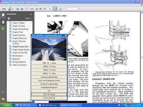 1956 - 1972 shop service repair manual 1-125 HP Johnson Evinrude omc outboard
