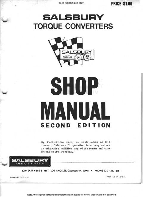 Salsbury clutch service manuals on CD