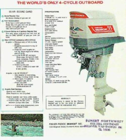 Homelite outboard motor service repair manual 55 4 stroke  on CD