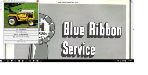 Cub Cadet repair manuals 55 75 95 factory service manual riding mower (