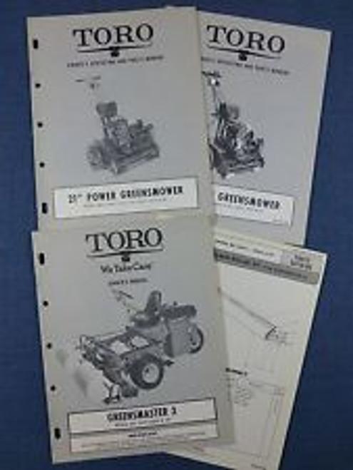 Toro reel greensmaster 3 owners manual download