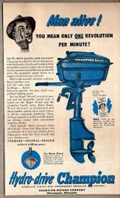 Champion outboard motor factory owners n parts manuals