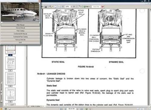 Cessna 335 service manual set + engine
