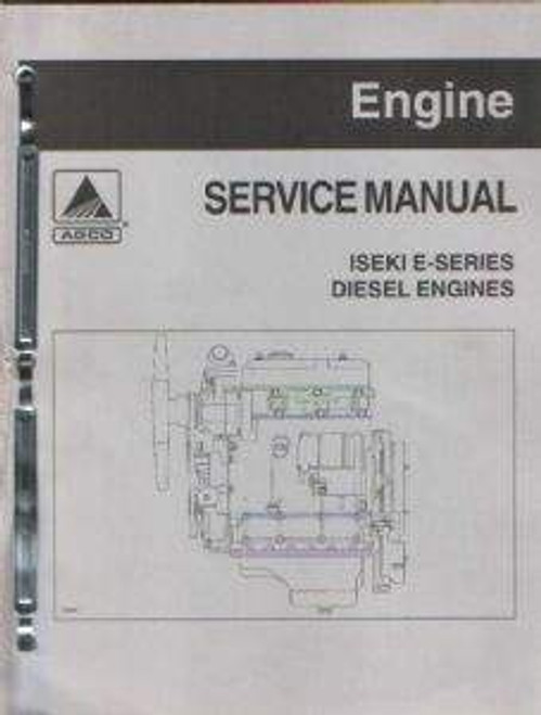 Iseki E series diesel engine service repair overhaul manual
