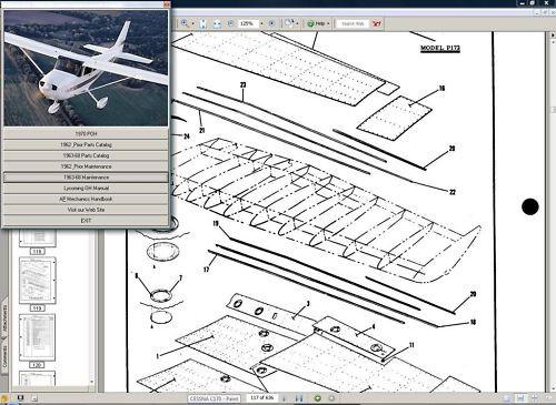 cessna 175 skylark service maintenance  n  parts manual library