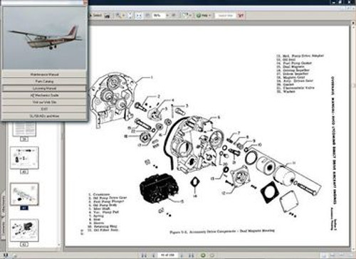 Cessna 182RG  and R-182 TR182 maintenance service  manual set + engine 1978 - 86 w current A/ds
