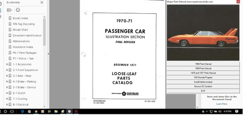 OLDSMOBILE PARTS MANUAL CATALOG 1965-1972 ILLUSTRATED