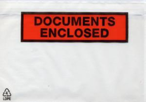 Document Enclosed - C5/A5 Pouches (500 Pack)