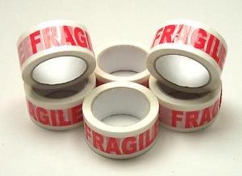48mm Fragile Tape (6 Roll Pack)