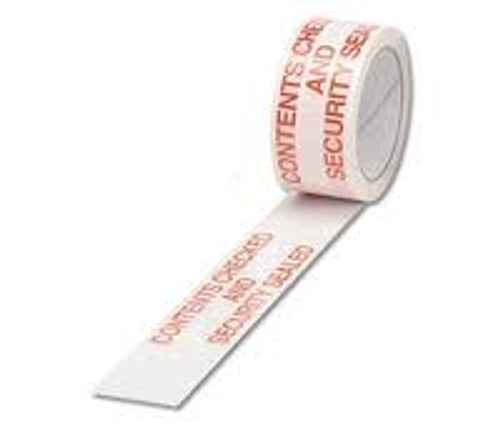 48mm Contents Checked & Security Sealed Tape (6 Roll Pack)