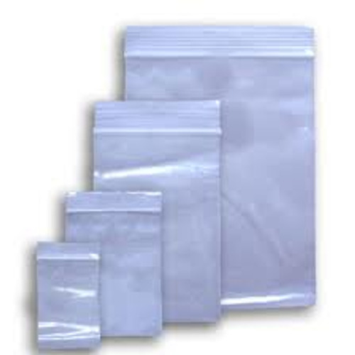"1000 Grip Seal Clear Poly resealable bags 3 x 7.5"" GL08"