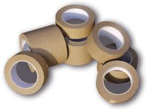 Brown paper Tape 75mm width (24 Roll Pack)