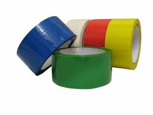 48mm Coloured Low Noise Tape - red (36 Roll Pack)