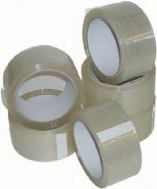 48mm Clear Polypropylene Tape Double Length (36 Roll Pack)