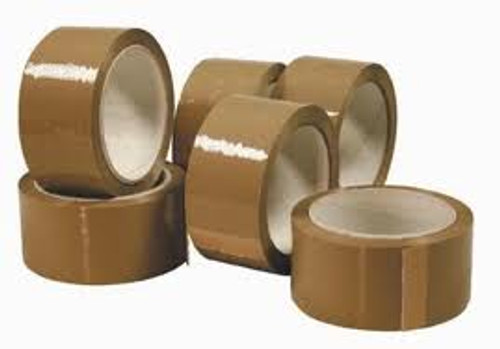 75mm Buff Polypropylene Tape (24 Roll Pack)
