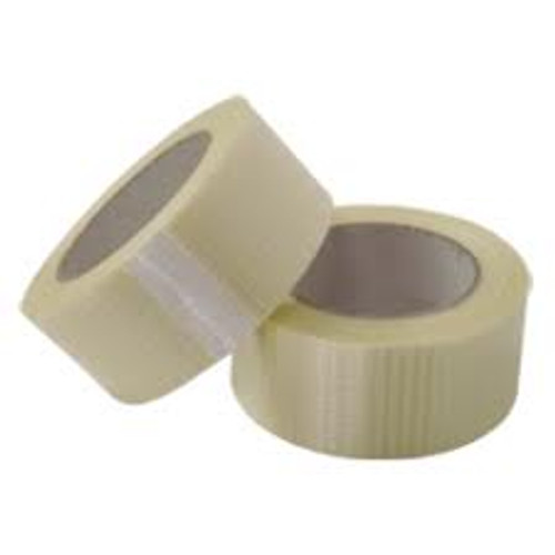 75mm Crossweave re-inforced Tape (12 Roll Pack)