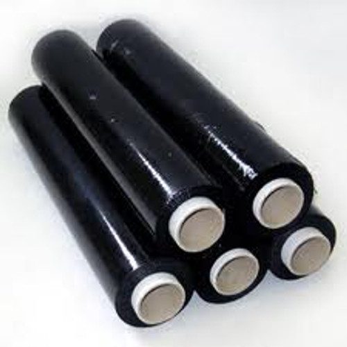 Black Security Pallet Wrap 500mm [25mu] - Std Core (6 Pack)