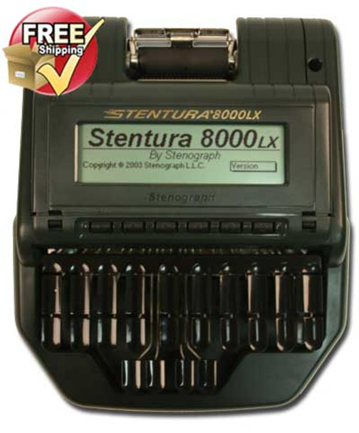 Stenograph® Stentura ® 8000LX  Refurbished Paperless or Paper