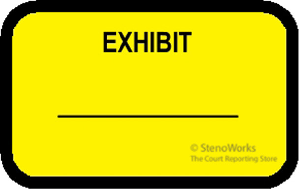 EXHIBIT Labels Stickers Yellow
