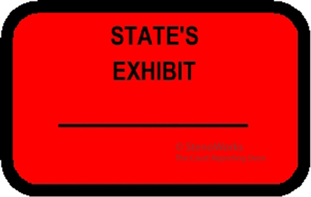 STATE'S EXHIBIT Labels Sickers