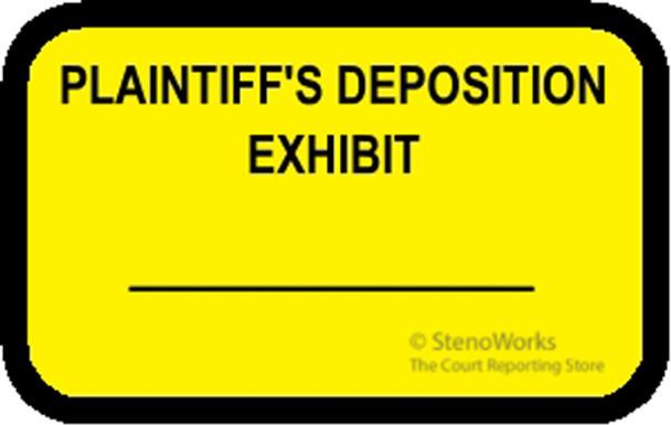 PLAINTIFF'S DEPOSITION EXHIBIT