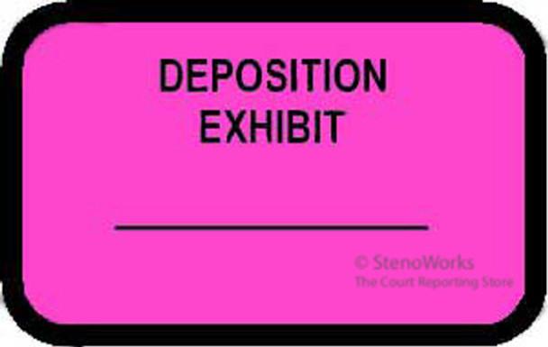 DEPOSITION EXHIBIT Labels Fluorescent Pink