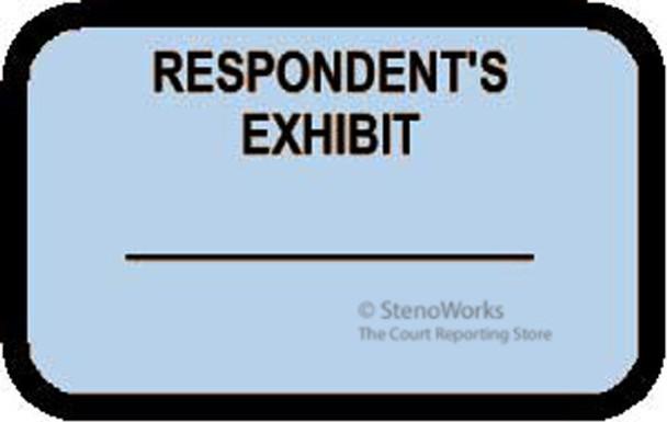 RESPONDENT'S EXHIBIT Labels Stickers Light Blue Choose Your Quantity