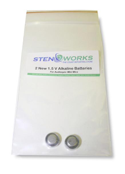 StenoWork's Batteries for Mini Microphones