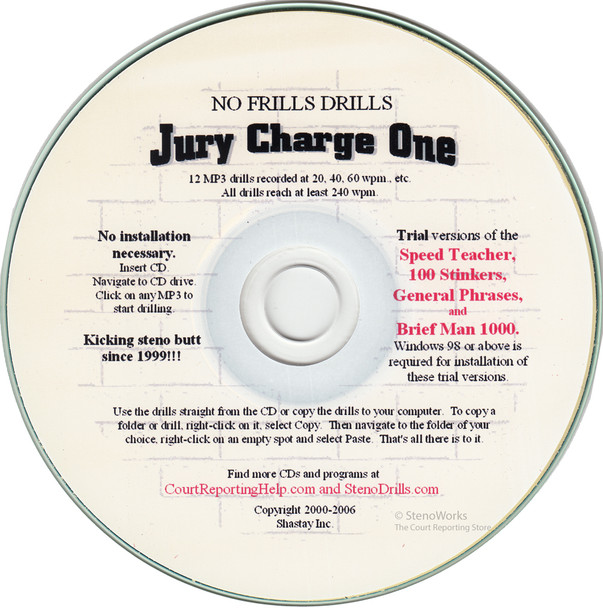 No Frills Drills  Jury Charge One  Great Dictation