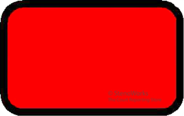 Blank Exhibit Labels Stickers Red 492 per pack Free Shipping 0 star rating  Write a review