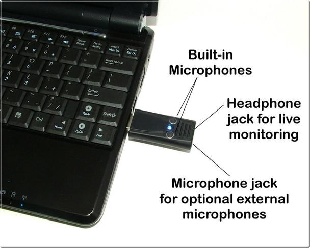 Ultra High Gain Mono/Stereo USB Omnidirectional Microphone