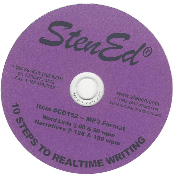 StenEd 10 Steps to Realtime Writing CD Only Used