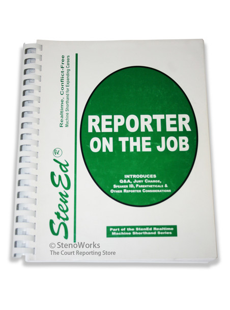 StenEd Reporter on the Job Used