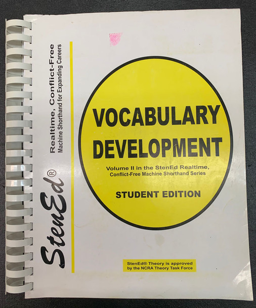 StenEd Vocabulary Development, Student Edition