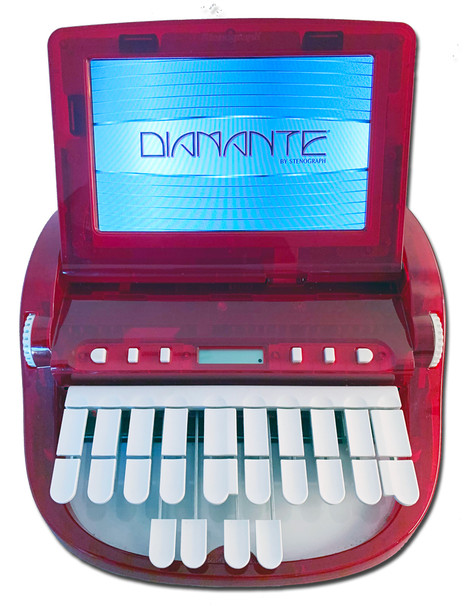 "Stenograph™ Diamante™ Pro Writer Refurbished in ""Totally Red-ical"""