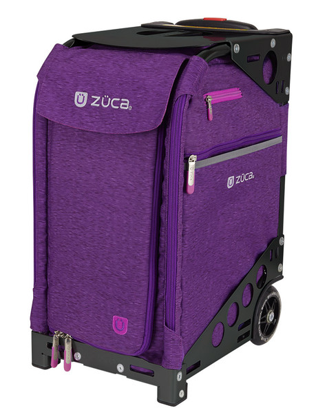 Zuca Professional Wheelie Case for Stenograph in Plum with Black Frame