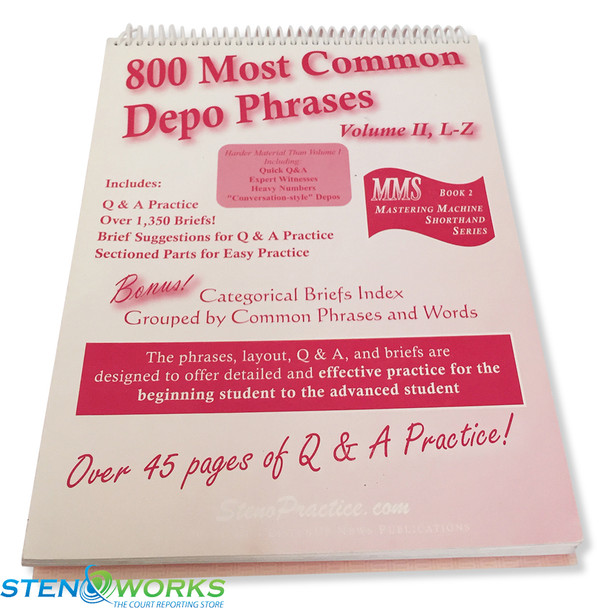 800 Most Common Depo Phrases Volume II, L-Z - Good Condition FREE SHIPPING