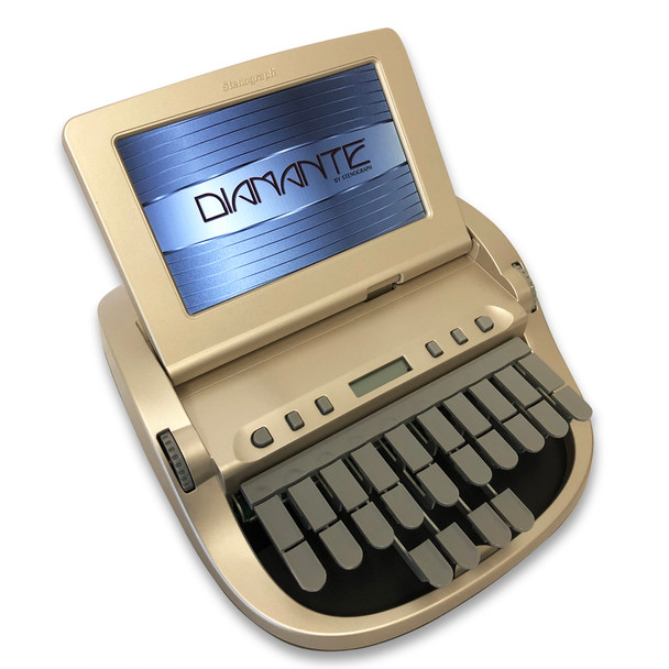 Stenograph™ Diamante™ Pro Writer Refurbished Gold with Black Bottom