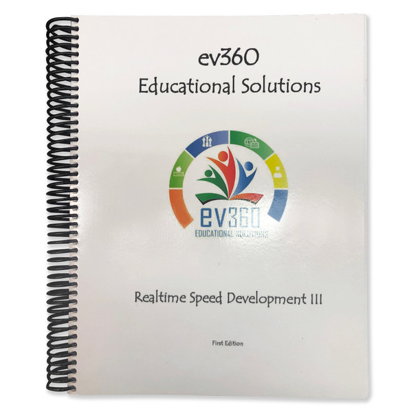 Realtime Speed Development III, ev360 Educational Solutions By Kay Moody, Very Good Condition