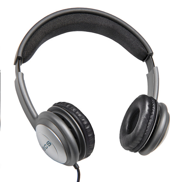 ECS OHUSB LC WordSlinger Deluxe Overhead USB Transcription Headset With Leatherette Cushions