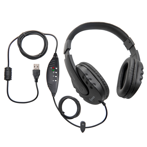 WordMaster Around-The-Ear Deluxe Overhead USB Transcription Headset