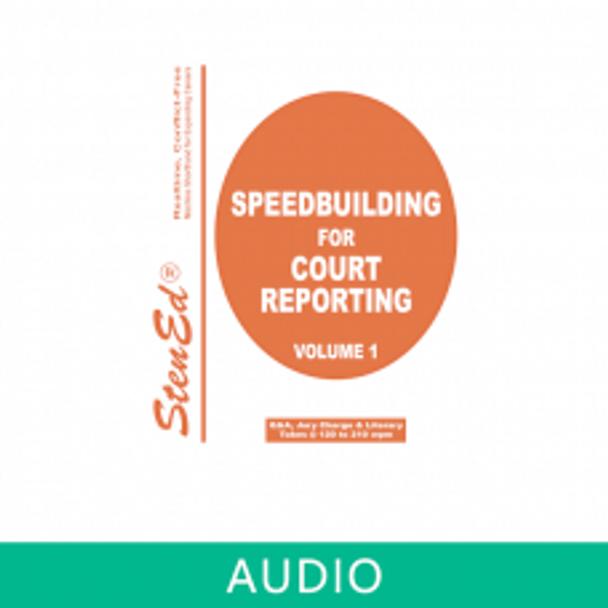 StenEd Speedbuilding for Court Reporting, Volume 1 plus online audio
