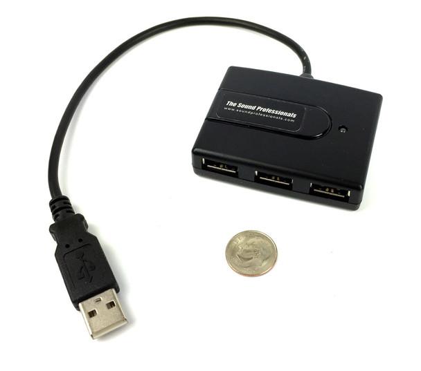 4-Port USB Ultra-Mini Hub Compatible with USB Mics