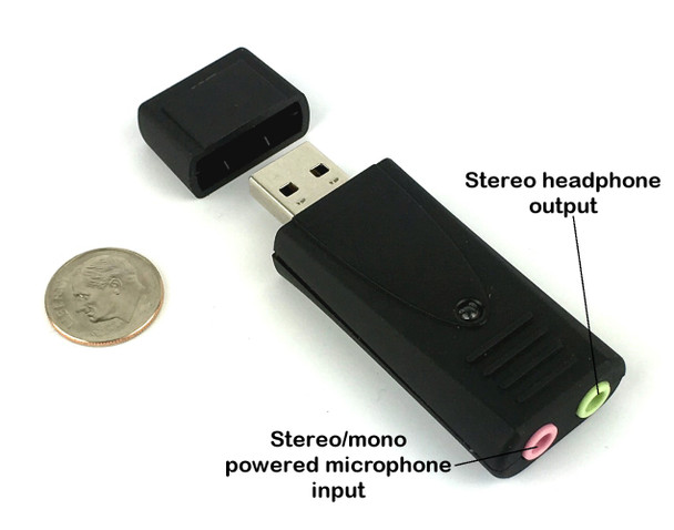 Andrea Communications - Andrea High Gain Pure Audio USB Digital Sound Card With Noise Reduction Technology