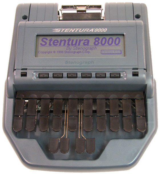 Stenograph® Stentura ® 8000  Refurbished Paperless or Paper