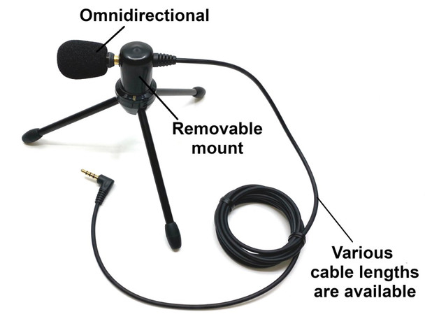 Master Series by Sound Professionals - Professional Ultra-High sensitivity omnidirectional or unidirectional microphone, professional cable and folding, removable tripod