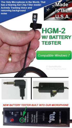 Brand New HGM2 Microphone with Battery Tester