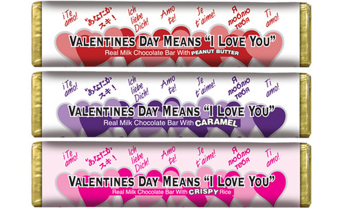 Valentines Chocolate Bars Carton